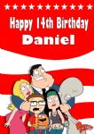 Personalised American Dad Birthday Card
